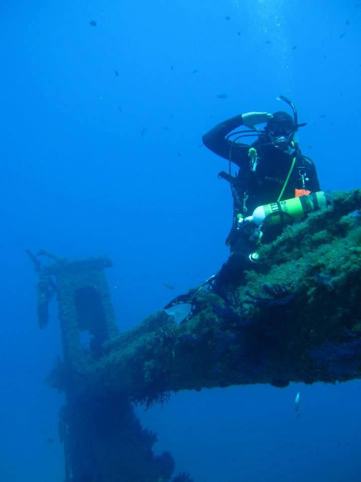 Plongée Nitrox à Marseille, plongée sur épave au Planier