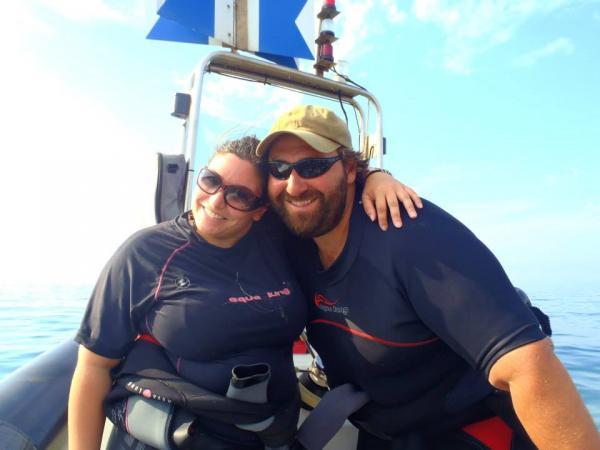 Couple de plongeurs xavier et laure TRUBERT