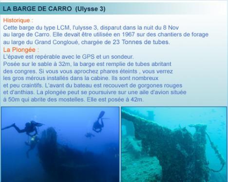 Carro, belle plongée de la cote bleue en provence
