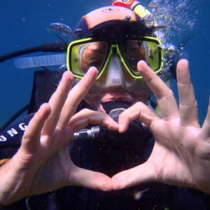 Fête de la St Valentin sous l'eau