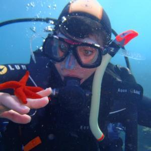 cote bleue sous l'eau