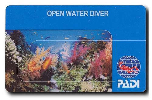 Carte padi open water