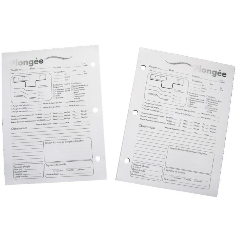 Feuillets logbook rechargeables 2