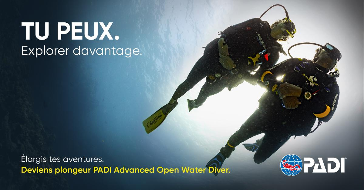 Formation advanced open water padi