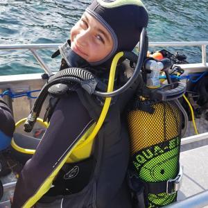 Jeune plongeur
