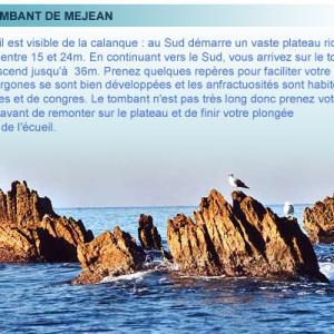 Calanque de Mejean, belle plongée de la cote bleue en provence