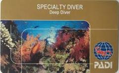 Padi deep diver card tb
