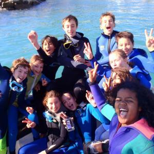 Groupe de plongeurs à Carry le Rouet
