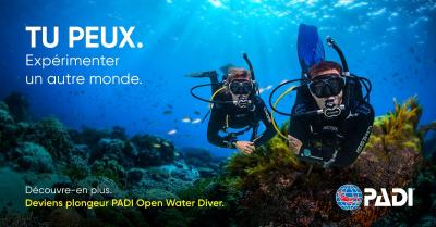 Plongeur open water padi