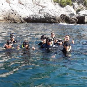 snorkeling dans la réserve de marseille