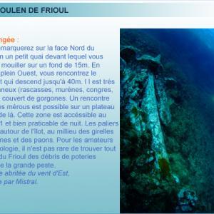 Plongée à Tiboulen du Frioul, rade de Marseille, Provence
