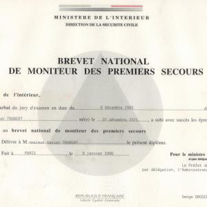Xavier Trubert moniteur national de 1er secours